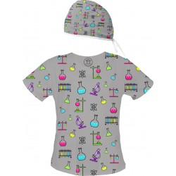 DEXTER Set bluza + czepek -Kolorowe bluzy medyczne we wzorki diagnosta | SALUS-MED | Laboratorium Diagnostyka