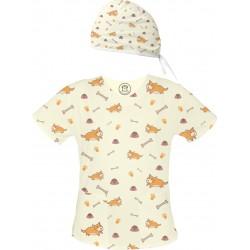 DOGGO Set bluza + czepek -Kolorowa bluza medyczna we wzorki delfinki SALUS-MED