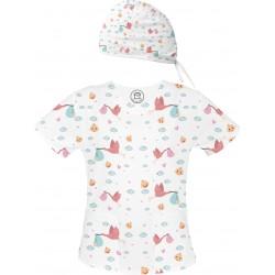 Bambino Set bluza + czepek -Kolorowe bluzy medyczne we wzorki Położna| SALUS-MED | Położnictwo