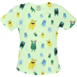 Potworki bluza medyczna -Kolorowa bluza medyczna we wzorki jednorożce SALUS-MED