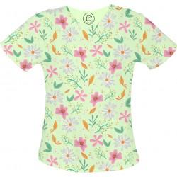 KWIATKI bluza medyczna -Kolorowa bluza medyczna we wzorki jednorożce SALUS-MED
