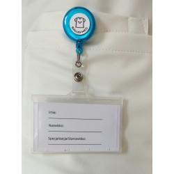 Trzymak błękitny - linka zwijana identyfikator -