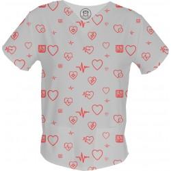 RYTMIE CZACZY bluza medyczna -Kolorowe bluzy medyczna we wzorki | SALUS-MED | Polski producent