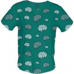 Mózg bluza medyczna -Kolorowe bluzy medyczne we wzorki | SALUS-MED | Produkt Polski