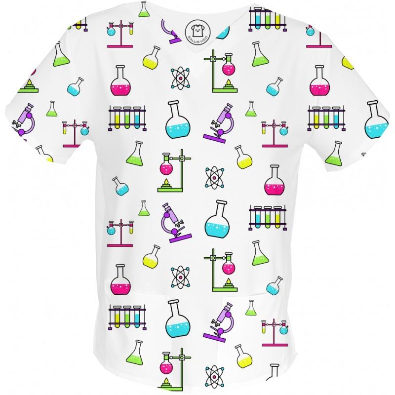 DEXTER bluza medyczna -Kolorowe bluzy medyczne we wzorki diagnosta | SALUS-MED |