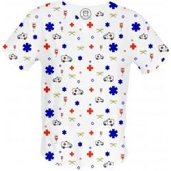 AMBULANS bluza medyczna -Kolorowe bluzy medyczne we wzorki RATOWNICTWO| SALUS-MED |