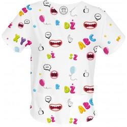 WYMÓWKA bluza medyczna -Kolorowe bluzy medyczne we wzorki RATOWNICTWO| SALUS-MED |