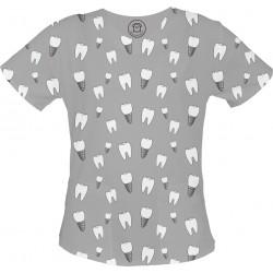 PAN IMPLANT bluza medyczna -Kolorowe bluzy medyczne we wzorki RATOWNICTWO| SALUS-MED |