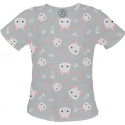 Koty bluza medyczna -Kolorowa bluza medyczna we wzorki delfinki SALUS-MED