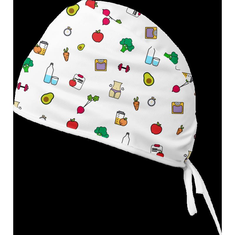 FIT Czepek medyczny -Czepek medyczny damski. Kolorowy czepek medyczny we wzorki